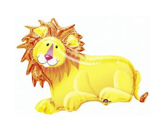 """Lion Balloon 35""""- King of the Jungle Party- Lion Balloon-Safari Party-Jungle Baby Shower- Lion King Theme - Giant Lion Balloon"""