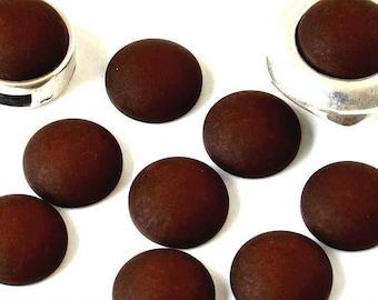 CABSYRD1215MARF470...   Cabochon resin - Matte color - (12mm) circular - Brown