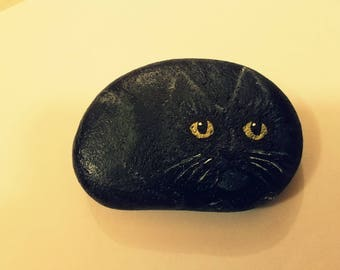 Black Cat Art - A Kitten For the Palm of Your Hand!