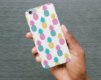 Samsung S7 Case / Colourful Pineapple Phone Case / iPhone 8 Case / Fruit iPhone X, 8, 6, 5 Case / Samsung Galaxy S8, S7, S6 Case - PC-264