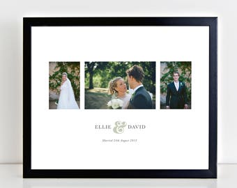 Anniversary Photo & Typography Art Print - personalise with name and date
