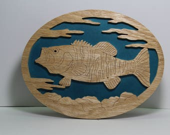 Small Mouth Bass Wall Plaque