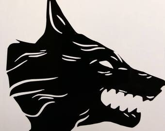 Destiny Iron Banner Wolf Vinyl Decal
