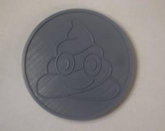 3D Printed Poop Emoji Coaster by TopazDesignz