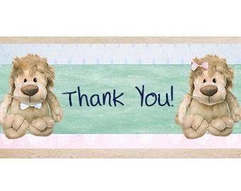 Bear Theme Baby Shower Thank You Cards – Thank You Cards – Baby Thank You – Shower Thank you – Digital Thank You Card