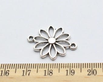 6 Flower Connector Charms