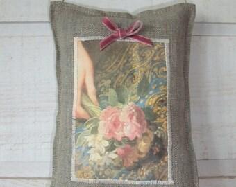 Door Detail painting romantic pillow
