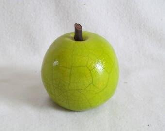 Lime green Raku firing enamel