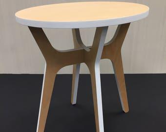 Modern Birch Side Table