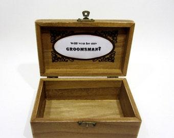 Groomsman gift box, Will you be my groomsman, Groomsman Proposal, Best Man Gift, Groomsman Gift, Will you be my Best Man? Wood Groomsman Box