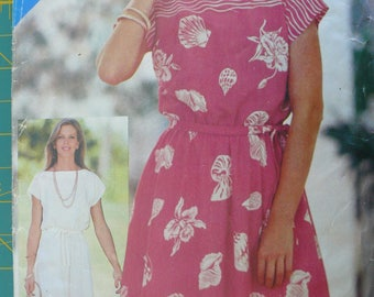 Women's Dress Pattern, Vintage See & Sew Pattern 3801, Size 8-10-12
