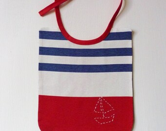 My sailboat baby bib