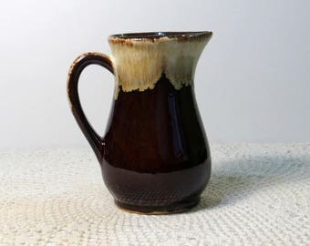 Vintage Roseville Brown Drip Glaze Pitcher | RRP CO Pottery | Rich Deep Brown with Tan Drip | Classic Brown Drip Pottery | Mid-Century