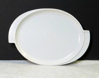 Retro White Boonton Melamine Platter 1950s Kitchen Dinnerware Vintage Boontonware Serving Plate Modern Kitsch Sturdy Plastic Tableware