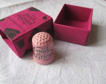 thimbles collectible porcelain, rose