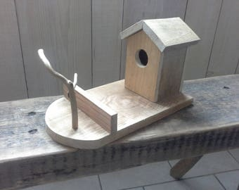 Beautiful natural wood birdhouse