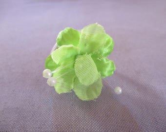 Green and White aluminium ring adjustable