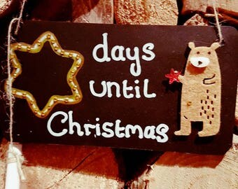 Chalk board Christmas plaque