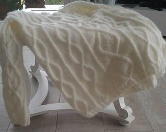 Fine mesh sweater Irish women ecru 42 / 44