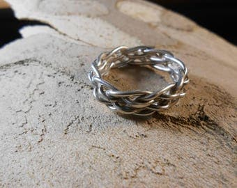 Infinity Braided Ring, Sterling Silver, Wedding Band, Love and Fertility Ring, Braided ring in sterling silver