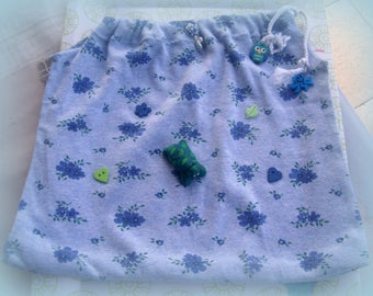 Tote bag for pajamas, blanket, toys, layers...