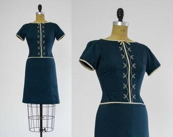 1960s day dress | 60s shift dress | 60s dress xs small