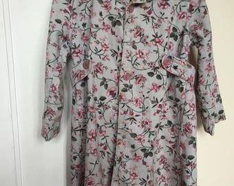 Velvet floral lightweight coat