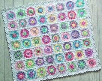 Starburst Granny Square baby blanket