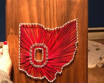 Ohio state string art