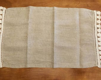 Linen table scarf/placemat
