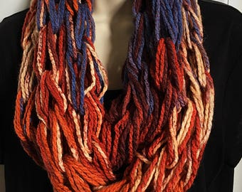 Hand Knit Double Loop Infinity Scarves 1-5