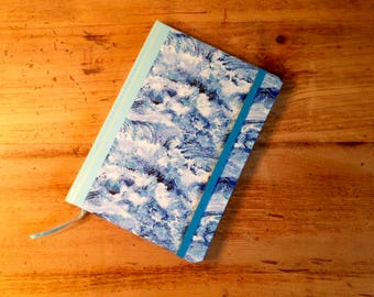 Blue Waves Fabric Covered Journal