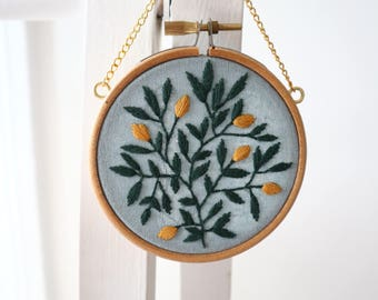 "Lemon Citrus - 3"" hoop"