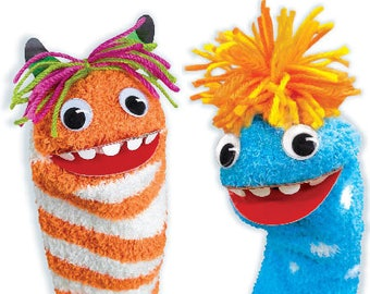 Kit sewing kids to create puppets from sock monsters / creative Kit DIY