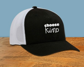 Choose Kind Wonder Movie Trucker Cap kindness anti bullying rj palacio friendship school teacher gift we're all wonders wonder motivation