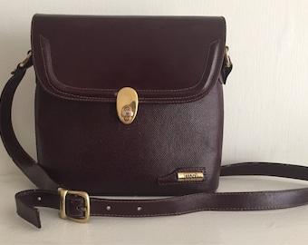 Land Oxblood binocular-case style shoulder bag