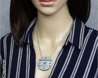 """Necklace collection SYLCO """"NOVA"""" (Silver/Blue)"""
