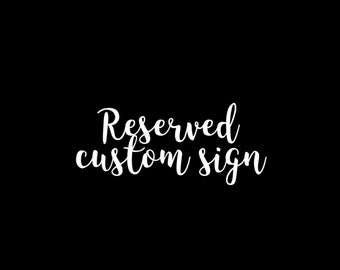 Reserved for Jazmin Buendia