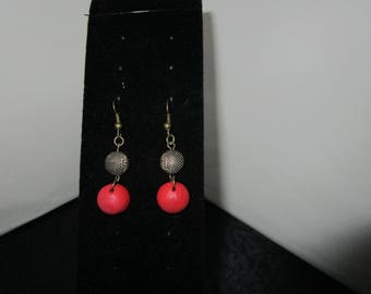 Red & Black Gold Earrings