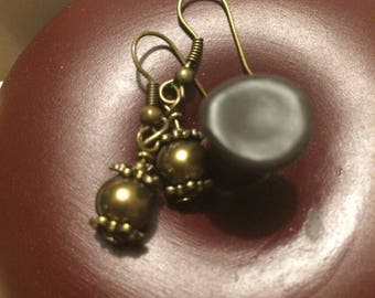 Earrings Pearly beads and charms