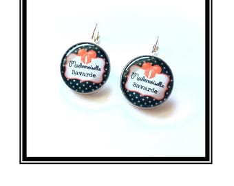 """Original & unique earrings """"Miss Chatterbox"""" personalized, fun, humor"""