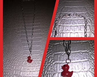 Necklace with red duck