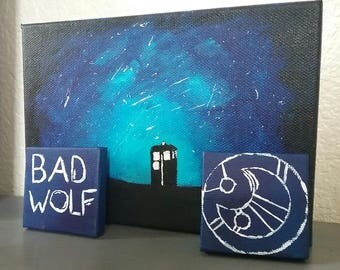 Doctor Who Magnets Bad Wolf and Gallifreyan