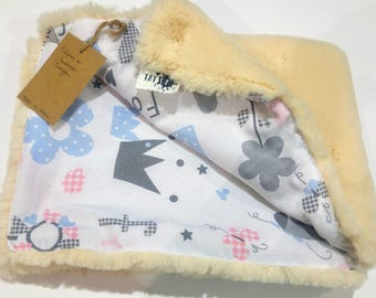Hair very soft baby blanket. 70x50cm Ideal for pram, Cot and cot.