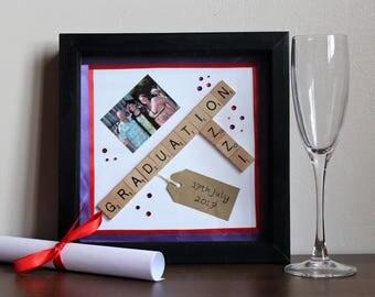 Personalised Graduation Scrabble Frame