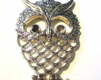 1 large OWL silver-plated 58x38mm MB180