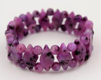 Purple quartz bracelet