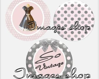 Envoi gratuit ! Images digitales cabochons SO VINTAGE