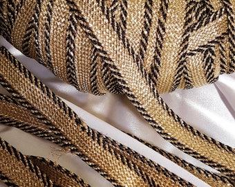 Lace Ribbon Sfifa Moroccan gold and black