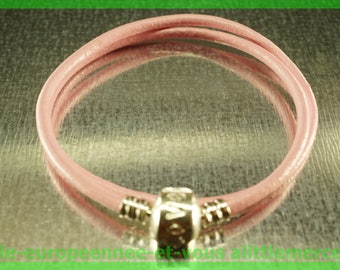 love double bracelet for European leather N84 Pearl 38cm charms